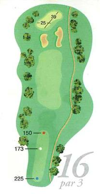 Map of Hole 16