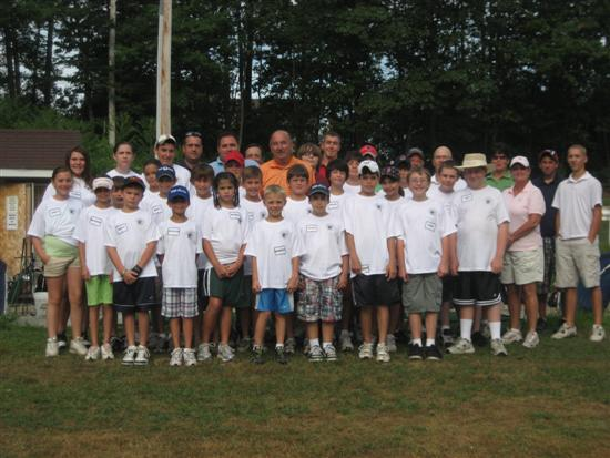 Golf Camp participants and instructors lined up in group photo