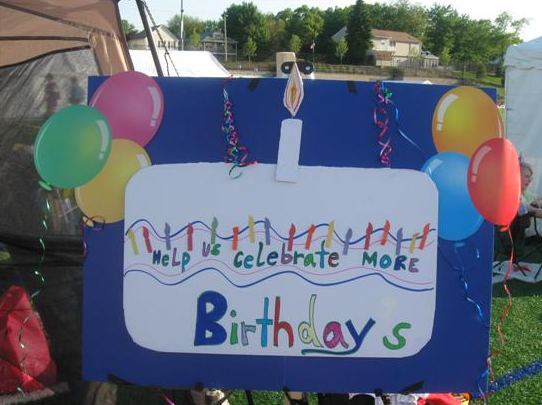 Relay Poster - Help Us Celebrate More Birthdays