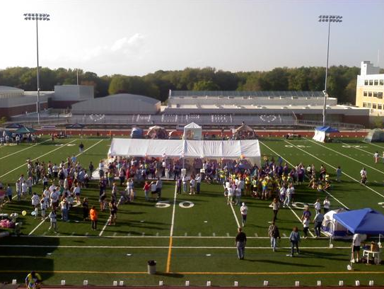 Relay for Life Tents on a Football Field