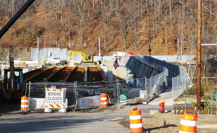 Davitt Bridge Construction, as of December 3, 2012