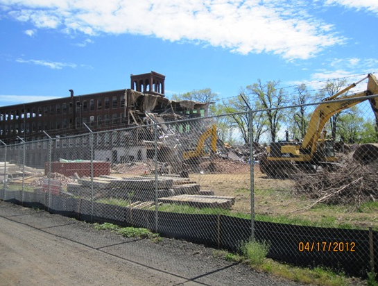 A look at what remains of Building 1 from the rear.