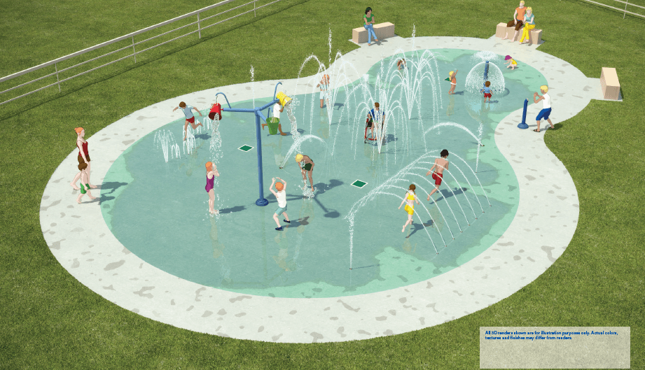 Rivers Park Spray Rendering